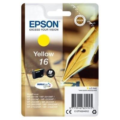 Inkoustová náplň Epson T1624 žlutá