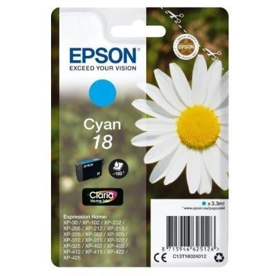 Inkoustová náplň Epson T1802 modrá