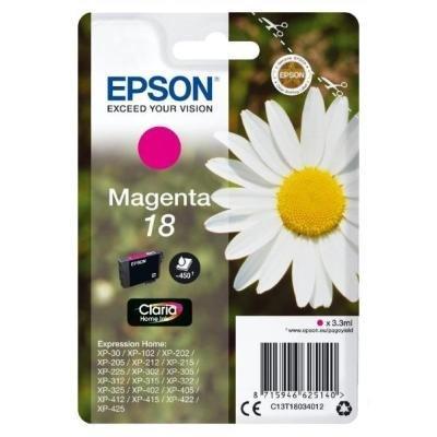 Inkoustová náplň Epson T1803 červená