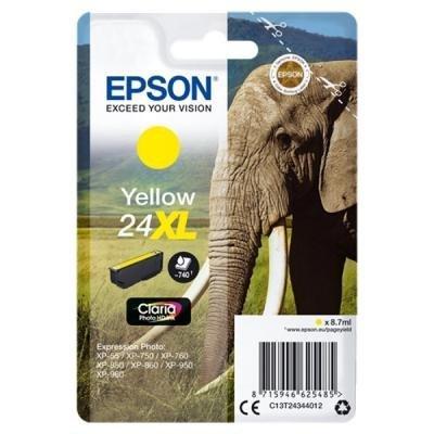 Inkoustová náplň Epson T2434 žlutá