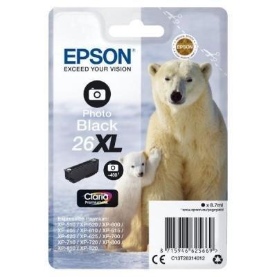 Inkoustová náplň Epson T2631 foto černá