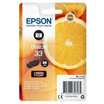 Inkoustová náplň Epson T3341 foto černá