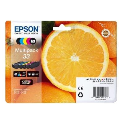 Inkoustová náplň Epson 33 CMYK + foto černá