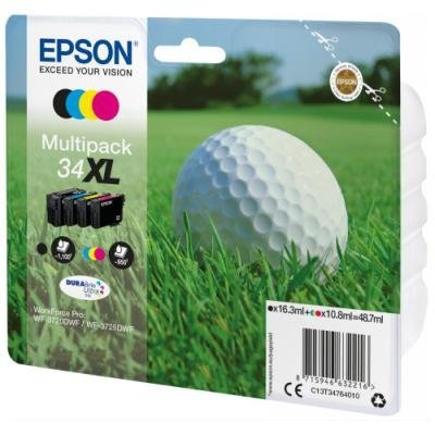 Epson inkoustová náplň/  T3476/ Multipack 34XL DURABrite Ultra Ink/ 4x barvy