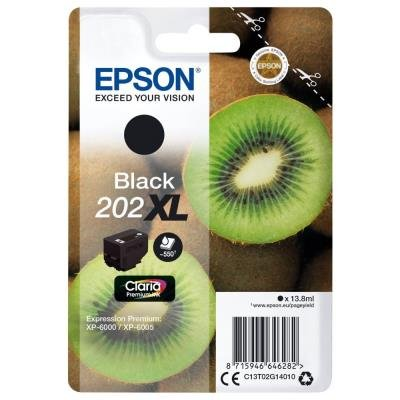 Inkoustová náplň Epson 202XL černá
