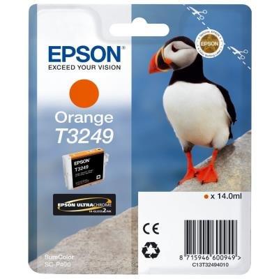 Inkoustová náplň Epson T3249 oranžová