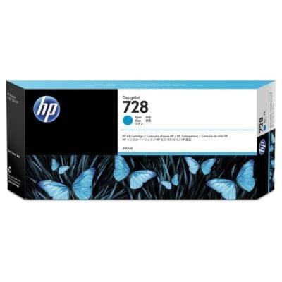 Inkoustová náplň HP 728 (F9K17A) modrá