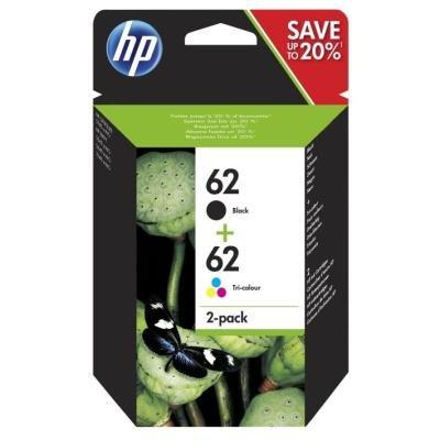 Inkoustová náplň HP 62 (N9J71AE) černá + barevná