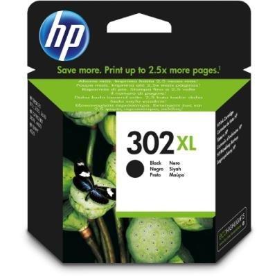Inkoustová náplň HP 302XL (F6U68AE) černá