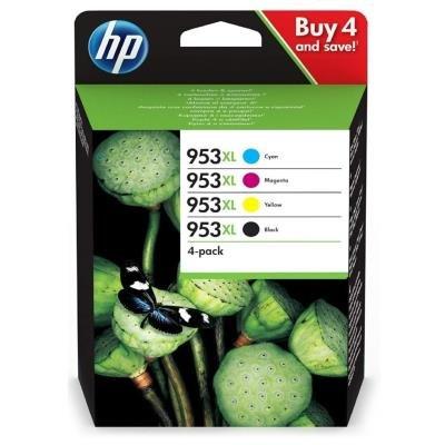 HP inkoustová sada 953XL (CMYK, 2000/1600str.) pro HP OfficeJet Pro 7740, 8210, 8710, 8720, 8730, 8740