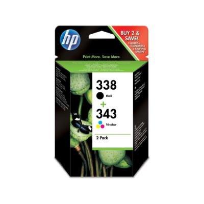 Inkoustová náplň HP 338+343 (Q8765EE) CMYK