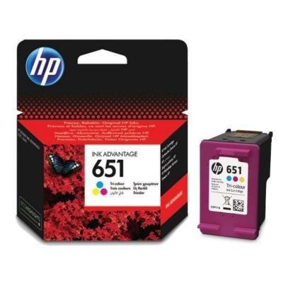 Inkoustová náplň HP 651 (C2P11AE) 3 barvy