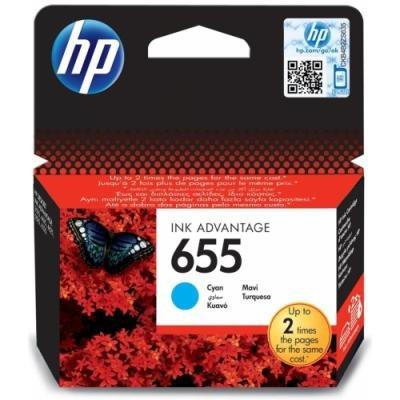 Inkoustová náplň HP 655 (CZ110AE) modrá