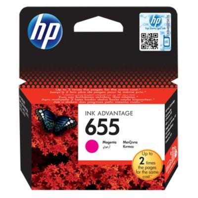 Inkoustová náplň HP 655 (CZ111AE) červená