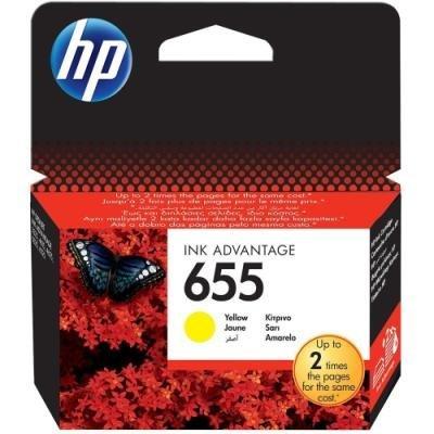 Inkoustová náplň HP 655 (CZ112AE) žlutá