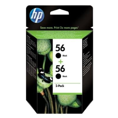Inkoustová náplň HP 56 (C9502AE) černá 2ks