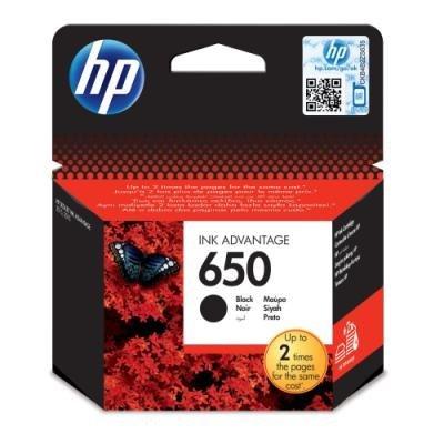 HP inkoustová kazeta 650 černá CZ101AE originál