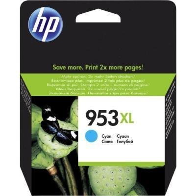 Inkoustová náplň HP 953XL (F6U16AE) azurová