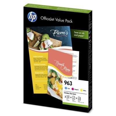 Inkoustová náplň HP 963 (6JR42AE) + papír