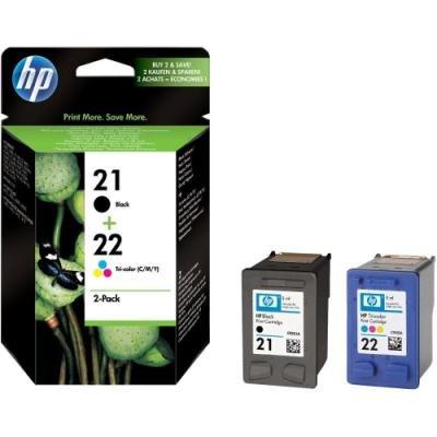 Inkoustová náplň HP 21+22 (C9351-2AE) černá a CMY