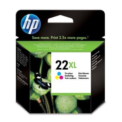 Inkoustová náplň HP 22XL (C9352CE) CMY