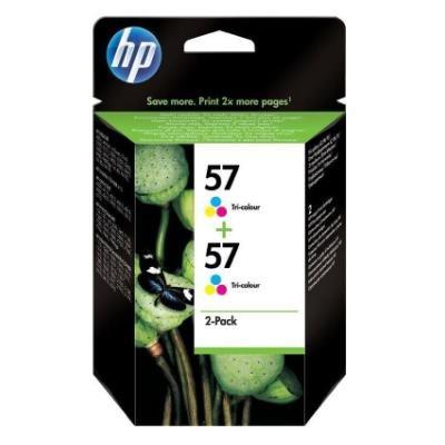 Inkoustová náplň HP 57 (C9503AE) CMY 2ks
