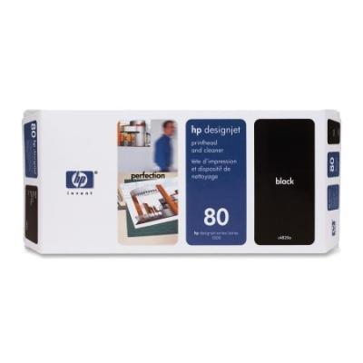 Tisková hlava HP 80 (C4820A) černá s čističem
