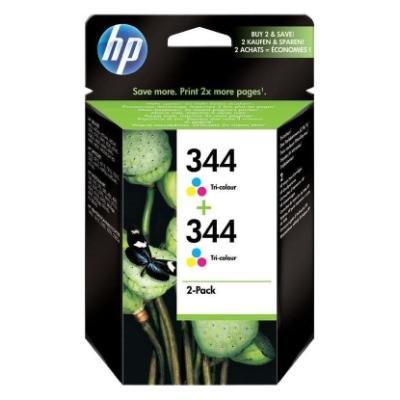 Inkoustová náplň HP 344 (C9505EE) CMY 2ks