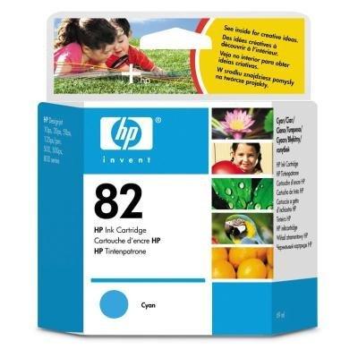 Inkoustová náplň HP 82 (C4911A) modrá