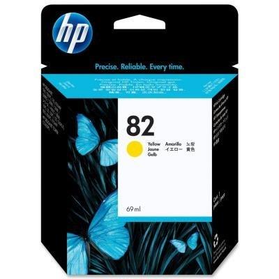 Inkoustová náplň HP 82 (C4913A) žlutá