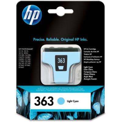 Inkoustová náplň HP 363 (C8774EE) světle modrá