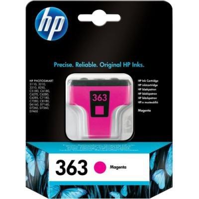 Inkoustová náplň HP 363 (C8772EE) červená