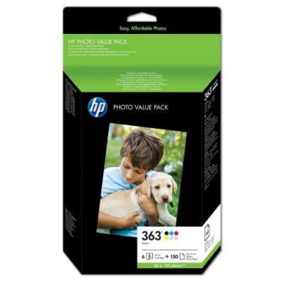 Inkoustová náplň HP 363 (Q7966EE) + papír 150 ks