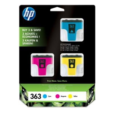 Inkoustová náplň HP 363 (CB333EE) CMY
