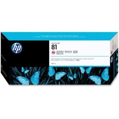 Inkoustová náplň HP 81 (C4935A) světlá červená