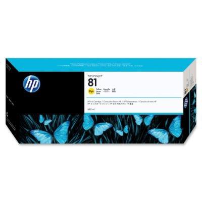 Inkoustová náplň HP 81 (C4933A) žlutá