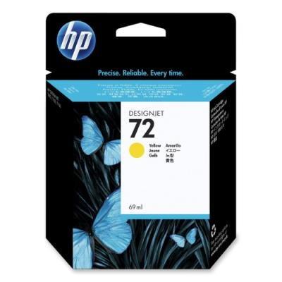 Inkoustová náplň HP 72 (C9400A) žlutá