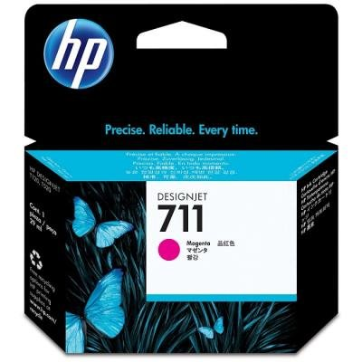 Inkoustová náplň HP 711 (CZ131A) červená
