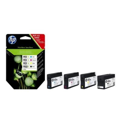 HP (950XL/951XL) Ink Cartridge Combo Pack, C2P43AE