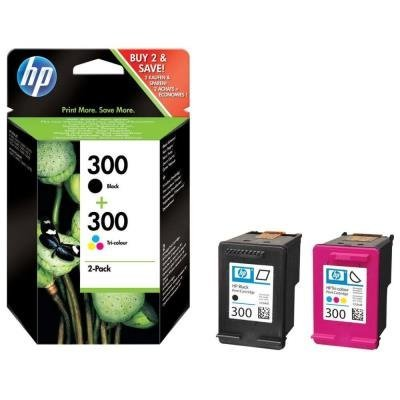 Inkoustová náplň HP 300 (CN637EE) multipack CMYK