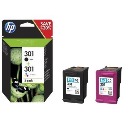 Inkoustová náplň HP 301 (N9J72AE) multipack CMYK