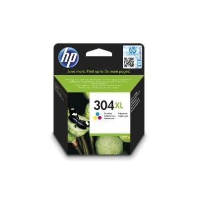 Inkoustová náplň HP 304XL (N9K07AE) CMY
