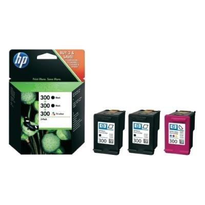 Inkoustová náplň HP 300 (SD518AE) trojbalení CMYK