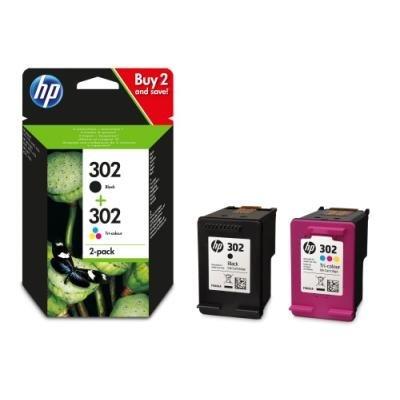 Inkoustová náplň HP 302 (X4D37AE) multipack CMYK