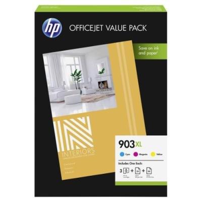 Inkoustová náplň HP 903XL (1CC20AE) + papír