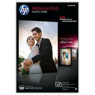 Fotopapír HP Premium Plus Photo Paper 10x15cm 25ks