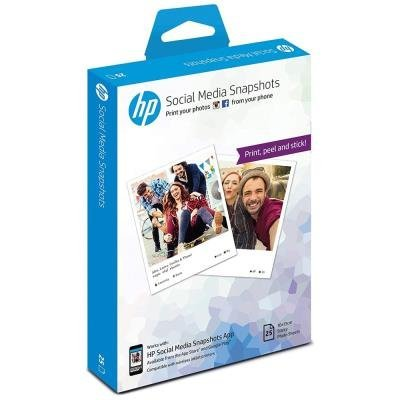 Fotografický papír HP Social Media Snapshots Removable Sticky Photo Paper, 25 listů, 10 x 13 cm