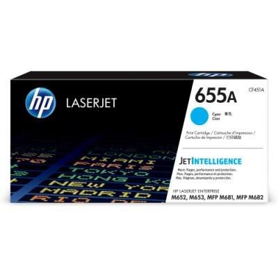 Toner HP 655A (CF451A) modrý