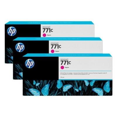 Inkoustová náplň HP 771C (B6Y33A) trojpack červená