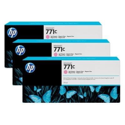 Inkoustová náplň HP 771C (B6Y35A) trojpack červená